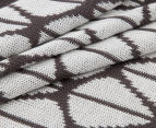 The Peanut Shell Knitted Reversible Bamboo Blanket - Dark Charcoal 6
