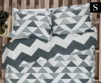 Ardor Felix Reversible Single Bed Quilt Cover Set - Charcoal 1