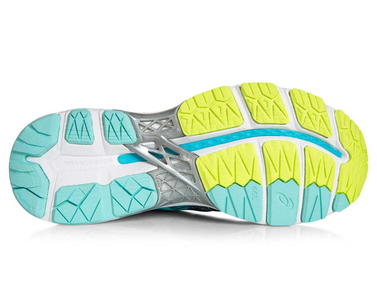 new styles bb370 3ef9d ASICS Women's GEL-Kayano 23 Shoe - Shark/Aruba Blue/Aquarium