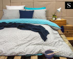 Ardor Peri Reversible Single Bed Quilt Cover Set - Turquoise 1