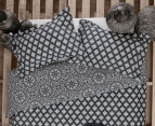 Ardor Arabesque Reversible King Bed Quilt Cover Set - Charcoal 2