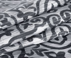 Ardor Arabesque Reversible Single Bed Quilt Cover Set - Charcoal 4