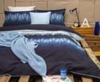 Ardor Arashi Reversible King Bed Quilt Cover Set - Indigo 2