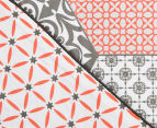 Ardor Madden Reversible Single Bed Quilt Cover Set - Coral 3