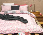 Ardor Madden Reversible King Bed Quilt Cover Set - Coral 2