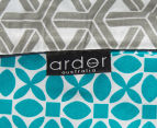 Ardor Peri Reversible Single Bed Quilt Cover Set - Turquoise 5
