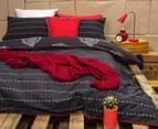 Ardor Paize Reversible Single Bed Quilt Cover Set - Ink 2
