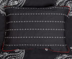Ardor Paize Reversible Single Bed Quilt Cover Set - Ink 6