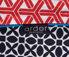 Ardor Peri Reversible King Bed Quilt Cover Set - Navy/Red 5