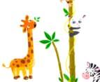 Giraffe, Zebra, Monkey & Panda Height Chart Wall Decal 3