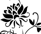 Contemporary Black Flower Wall Decal 3