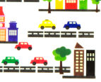 Glow In The Dark Cars & Buildings Wall Decal 4