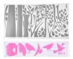 Grey Tree w/ Pink Birds Wall Decal 2