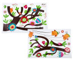 Birds Swinging On A Branch Wall Decal 2