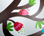 Birds Swinging On A Branch Wall Decal 5