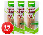 3 x VitaPet Rawhide Beef Chews 5-Pack  1
