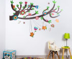 Birds Swinging On A Branch Wall Decal 1