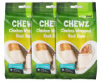 3 x VitaPet Chewz Chicken Wrapped Knot Bone 2-Piece 1
