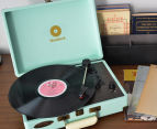 mbeat Woodstock Retro Turntable Player - Tiffany Blue 2