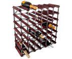 Gourmet Kitchen 42-Bottle Wine Rack - Stained Pine 1