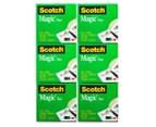 Scotch Magic Cosmo Tape Dispenser + Magic Tape Rolls 6-Pack 5