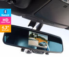 BSR Dual HD Camera Car DVR w/ Bluetooth & Rear View Mirror 1