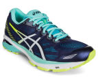 ASICS Women's GT-1000 5 Shoe - Indigo Blue/White/Safety Yellow 2
