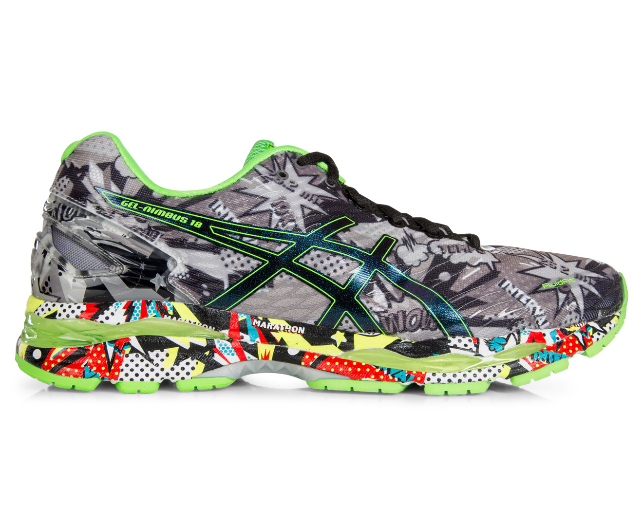 ASICS Men's GEL-Nimbus 18 Shoe - Carbon/Black/Green Gecko