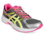 ASICS Women's GEL-Contend 3 Shoe - Steel Grey/Safety Yellow/Hot Pink 2