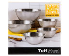 TuffSteel Set of 5 Stainless Steel Mixing Bowls 6