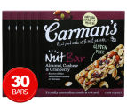 6 x Carman's Almond, Cashew & Cranberry Nut Bars 175g 5pk  1