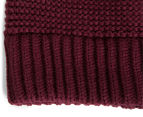 The North Face Purrl Stitch Beanie - Deep Garnet Red 4