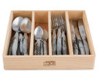 French-Inspired Replica 24Pc Cutlery Set - Marble White 2
