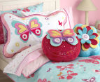 Freckles Flutterby Butterflies Round Shaped Cushion - Multi 2