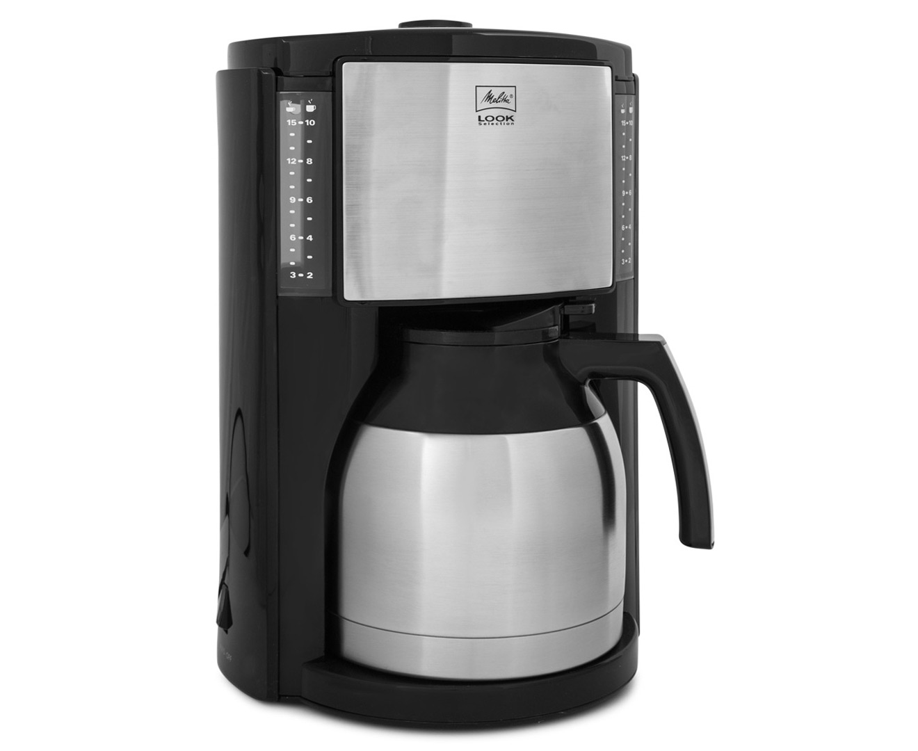 melitta look therm selection coffee machine black silver great daily deals at australia 39 s. Black Bedroom Furniture Sets. Home Design Ideas