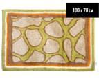 Freckles 100x70cm Safari Cotton Floor Rug - Chocolate 1