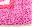 Freckles 90x60cm Pop Cotton Floor Rug - Pink 3