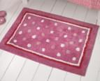 Freckles 90x60cm Pop Cotton Floor Rug - Pink 2