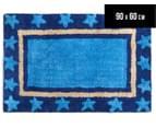 Freckles 90x60cm Marine Cotton Floor Rug - Blue 1