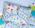 Freckles Trains Double Bed Quilt Cover Set - Multi 4
