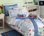 Freckles Trains Single Bed Quilt Cover Set - Multi 1