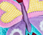 Freckles Flutterby Butterflies Round Shaped Cushion - Multi 5