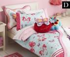 Freckles Flutterby Double Bed Quilt Cover Set - Aqua 1