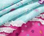Freckles Flutterby Single Bed Quilt Cover Set - Aqua 5