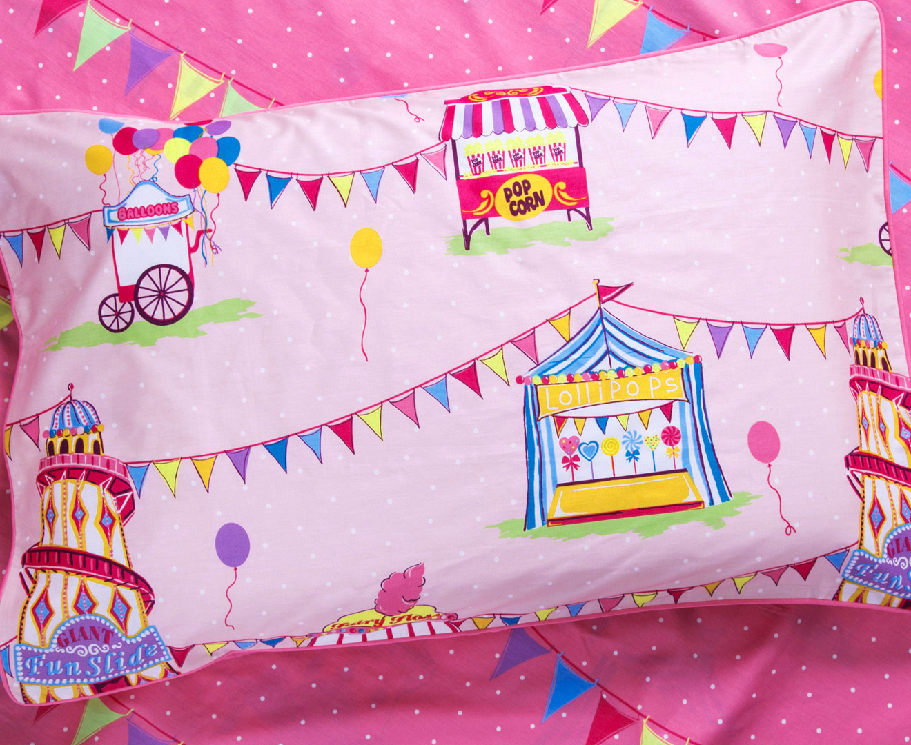 Freckles Fairground Double Bed Quilt Cover Set Multi