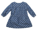 Fox & Finch Girls' Fiona Owl Dress - Denim Blue 2