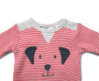 Bébé by Minihaha Dog Face Romper - Max Red 3