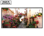 Floral Alley In Italy 50x25cm Framed Wall Art 1
