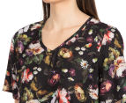 Diana Ferrari Women's Gloria Floral Top - Black Multi 6