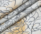 Sheridan Flourish Queen Bed Standard Quilt Cover Set & Fitted Sheet - Sand 5